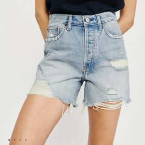 NWOT Abercrombie & Fitch High Rise Jean Shorts
